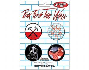 Pink Floyd The Wall 4 round Pin Badges in Pack (mm)